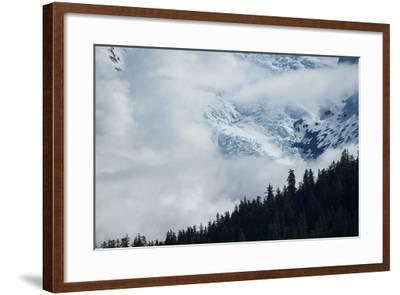 Cloud-Obscured Mountains Along Endicott Arm, Ford's Terror Wilderness, Inside Passage, Alaska-Michael Melford-Framed Photographic Print