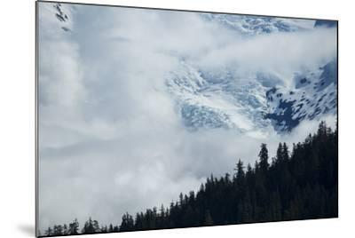 Cloud-Obscured Mountains Along Endicott Arm, Ford's Terror Wilderness, Inside Passage, Alaska-Michael Melford-Mounted Photographic Print