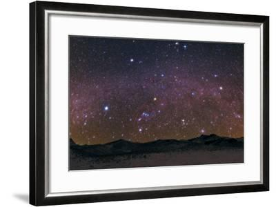 Meteors Streak the Night Sky Above the Zagros Mountains During the Geminids Meteor Shower-Babak Tafreshi-Framed Photographic Print