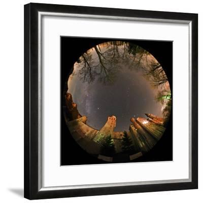 Night Sky over Neuschwanstein Castle Including the Milky Way, Vega, and the Summer Triangle-Babak Tafreshi-Framed Photographic Print