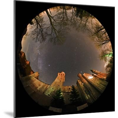 Night Sky over Neuschwanstein Castle Including the Milky Way, Vega, and the Summer Triangle-Babak Tafreshi-Mounted Photographic Print