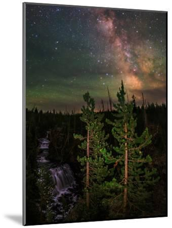 The Summer Milky Way and Green Air Glow in a Dark Starry Sky over Yellowstone National Park-Babak Tafreshi-Mounted Photographic Print
