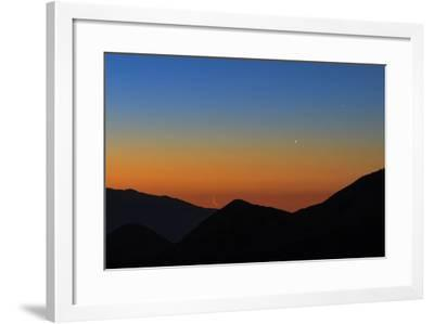 Mercury, the Bright Planet Venus, and the Crescent Moon Align over the Great Salt Desert, Iran-Babak Tafreshi-Framed Photographic Print