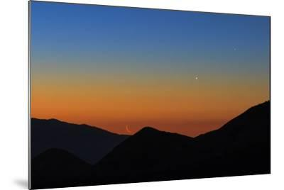 Mercury, the Bright Planet Venus, and the Crescent Moon Align over the Great Salt Desert, Iran-Babak Tafreshi-Mounted Photographic Print