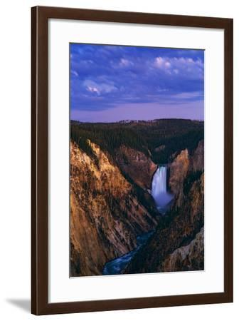 Dawn over Lower Yellowstone Falls and the Yellowstone River-Babak Tafreshi-Framed Photographic Print
