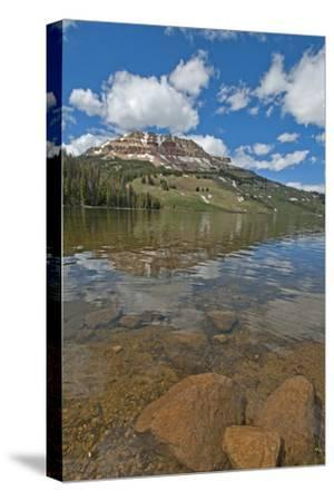 Beartooth Butte Reflects in Beartooth Lake in the Absaroka Range-Gordon Wiltsie-Stretched Canvas Print