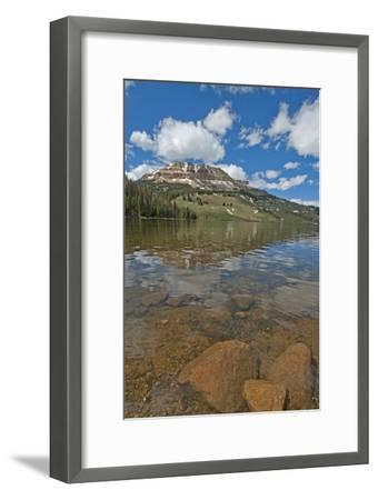 Beartooth Butte Reflects in Beartooth Lake in the Absaroka Range-Gordon Wiltsie-Framed Photographic Print