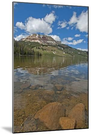 Beartooth Butte Reflects in Beartooth Lake in the Absaroka Range-Gordon Wiltsie-Mounted Photographic Print