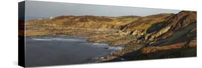 Bull Point, Seen across Rockham Bay, Mortehoe, Near Woolacombe, Near Ilfracombe, Devon-Nigel Hicks-Stretched Canvas Print