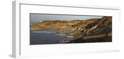 Bull Point, Seen across Rockham Bay, Mortehoe, Near Woolacombe, Near Ilfracombe, Devon-Nigel Hicks-Framed Photographic Print