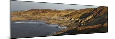Bull Point, Seen across Rockham Bay, Mortehoe, Near Woolacombe, Near Ilfracombe, Devon-Nigel Hicks-Mounted Photographic Print