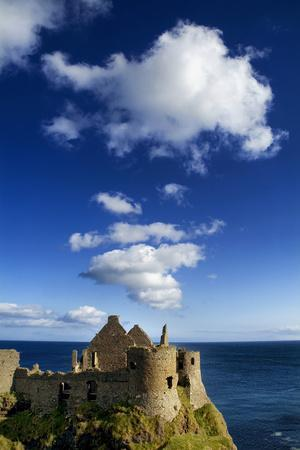 Ruins of Dunluce Castle on the Antrim Coast, Northern Ireland-Chris Hill-Framed Photographic Print
