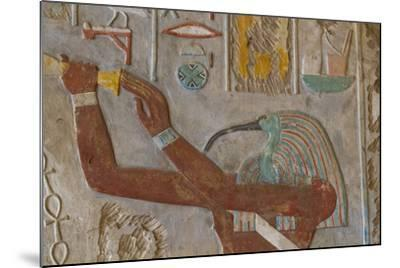 The God Thoth in a Relief Portrait at the Temple of Karnak-Michael Melford-Mounted Photographic Print