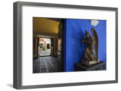 Carved Wooden Angels Guard a Hallway in the Restored 1730 Mansion Casa De Moral-Beth Wald-Framed Photographic Print