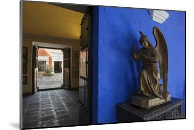 Carved Wooden Angels Guard a Hallway in the Restored 1730 Mansion Casa De Moral-Beth Wald-Mounted Photographic Print