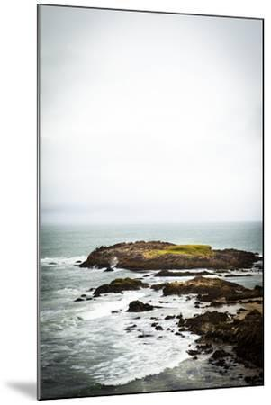 Rain over the Pacific Ocean and Rocky Outcrops on the Big Sur Coast-Keith Barraclough-Mounted Photographic Print