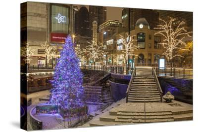 A Christmas Tree on North Michigan Ave in the Magnificent Mile-Richard Nowitz-Stretched Canvas Print