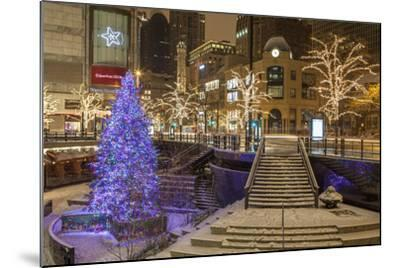 A Christmas Tree on North Michigan Ave in the Magnificent Mile-Richard Nowitz-Mounted Photographic Print