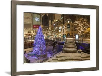 A Christmas Tree on North Michigan Ave in the Magnificent Mile-Richard Nowitz-Framed Photographic Print