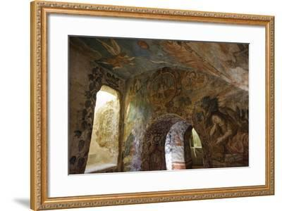Spectacular Frescos Cover an Underground Chapel at the Convent of Santa Clara, Cusco-Beth Wald-Framed Photographic Print