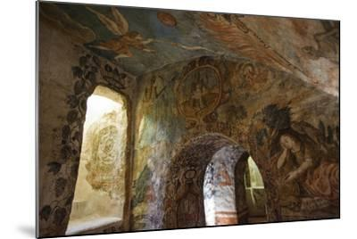 Spectacular Frescos Cover an Underground Chapel at the Convent of Santa Clara, Cusco-Beth Wald-Mounted Photographic Print