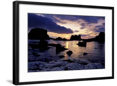 Sunset at Ballintoy on the North Coast of Antrim-Chris Hill-Framed Photographic Print