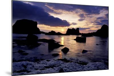 Sunset at Ballintoy on the North Coast of Antrim-Chris Hill-Mounted Photographic Print