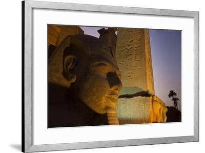 Head of Ramses Ll at Entrance to Luxor Temple-Michael Melford-Framed Photographic Print