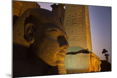 Head of Ramses Ll at Entrance to Luxor Temple-Michael Melford-Mounted Photographic Print