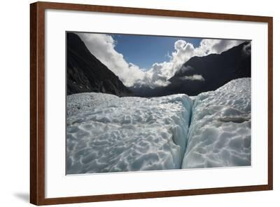 Fox Glacier in Retreat from a Warming Climate-Michael Melford-Framed Photographic Print
