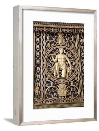 A Gilt Figure on the Art Deco Style Fisher Building-Melissa Farlow-Framed Premium Photographic Print