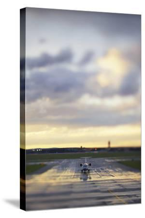 A View Down the Runway at an Australian Airport-Keith Ladzinski-Stretched Canvas Print