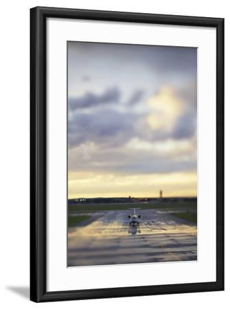 A View Down the Runway at an Australian Airport-Keith Ladzinski-Framed Photographic Print