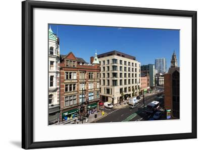 High Angle View of High Street in Belfast-Chris Hill-Framed Photographic Print