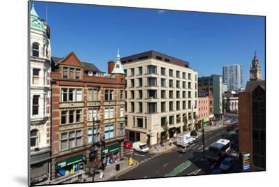 High Angle View of High Street in Belfast-Chris Hill-Mounted Photographic Print