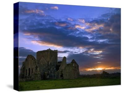 Sunset at Hore Abbey in Tipperary-Chris Hill-Stretched Canvas Print