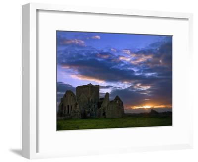 Sunset at Hore Abbey in Tipperary-Chris Hill-Framed Photographic Print
