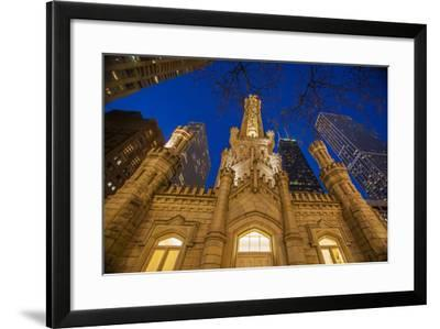 The Old Water Tower and Chicago Skyline in 2013-Richard Nowitz-Framed Photographic Print