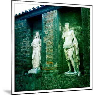 Roman Statues in the Ruins of Pompeii, Italy-Skip Brown-Mounted Photographic Print