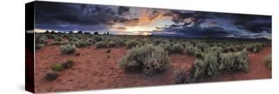 A Panoramic Desert Landscape at Sunset-Keith Ladzinski-Stretched Canvas Print
