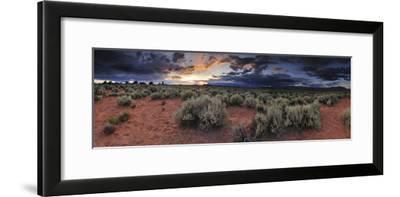 A Panoramic Desert Landscape at Sunset-Keith Ladzinski-Framed Photographic Print