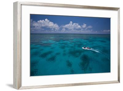 A Dinghy at the Great Barrier Reef-Michael Melford-Framed Photographic Print