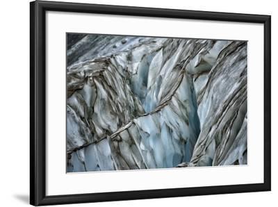 A Blue Iceberg Striped with Streaks of Black-Keith Ladzinski-Framed Photographic Print