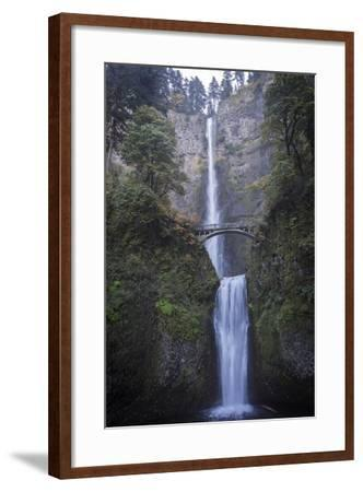 Falls on Multnomah Creek in the Columbia River Gorge-Macduff Everton-Framed Photographic Print