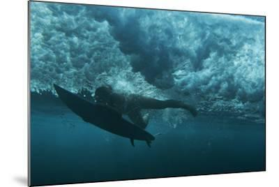 Underwater View of a Surfer in Waipi'O Bay-Chris Bickford-Mounted Photographic Print