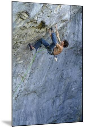 Looking Down Upon a Man Rock Climbing-Keith Ladzinski-Mounted Photographic Print