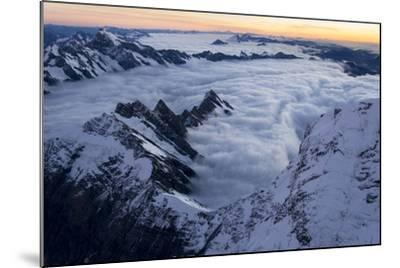 Mount Cook, Tasman Glacier and Fox Glacier at Sunset-Michael Melford-Mounted Photographic Print