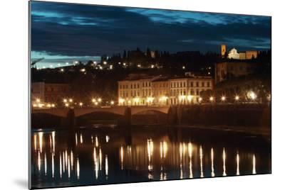 A Bridge and Reflections in the Arno River at Dawn-Joe Petersburger-Mounted Photographic Print