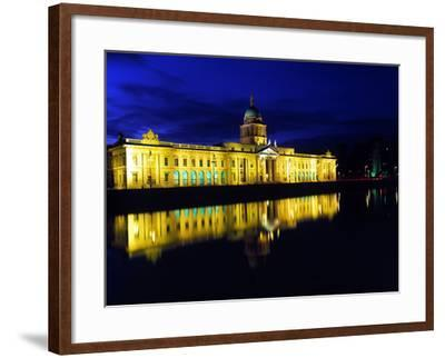 Customs House in Dublin Lit Up at Night-Chris Hill-Framed Photographic Print