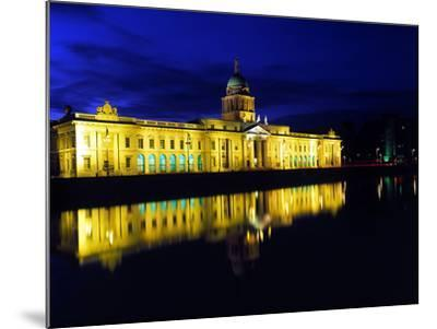 Customs House in Dublin Lit Up at Night-Chris Hill-Mounted Photographic Print